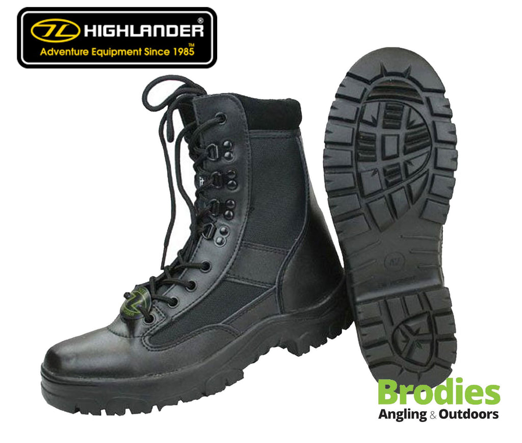 Highlander 'Alpha' Military Boots - Black-Highlander-Brodies Angling & Outdoors