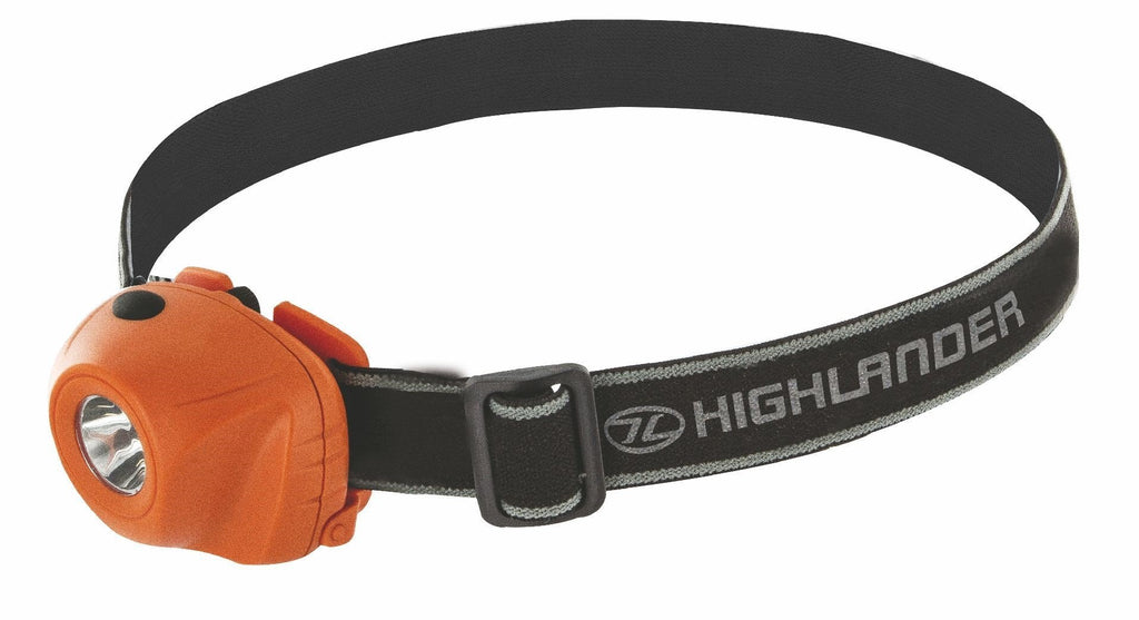 Highlander 'Beam' 1 Watt Headtorch-Highlander-Brodies Angling & Outdoors