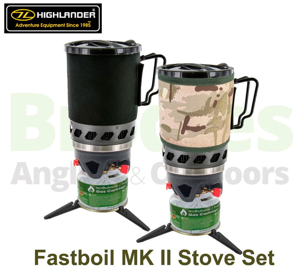 Highlander 'Blade' Fastboil MK II Stove Set-Highlander-Brodies Angling & Outdoors
