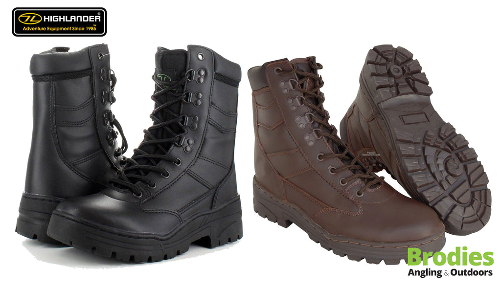 Highlander 'Delta' Leather Military Boots-Highlander-Brodies Angling & Outdoors