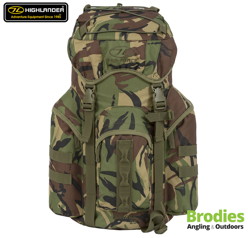 Highlander Forces 25 Litre Military Rucksack - HMTC-Highlander-Brodies Angling & Outdoors