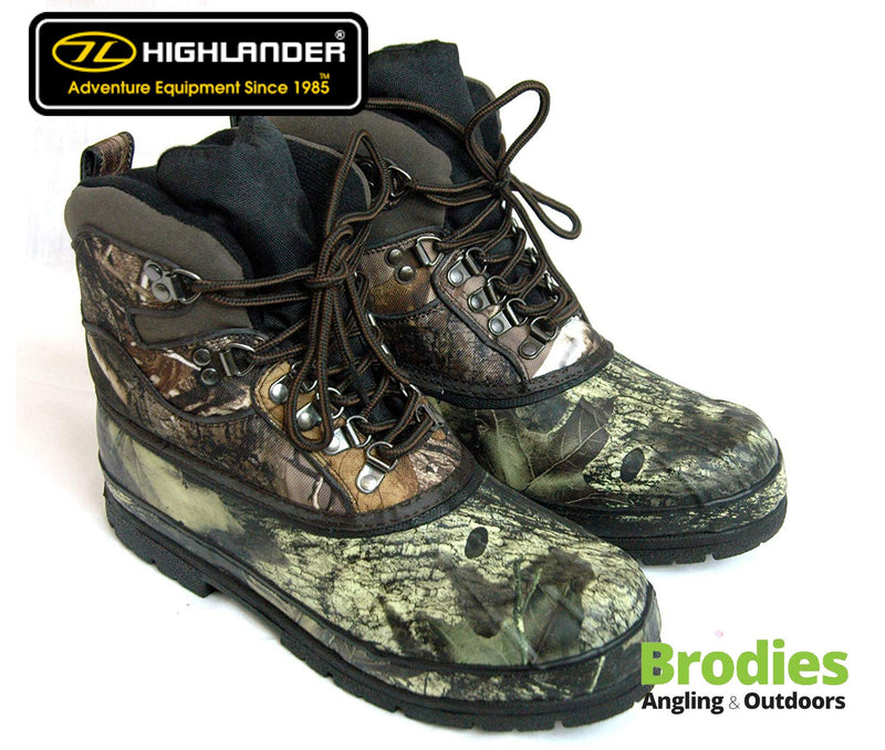 Highlander 'Glenmor' Camo Military Boots-Highlander-Brodies Angling & Outdoors