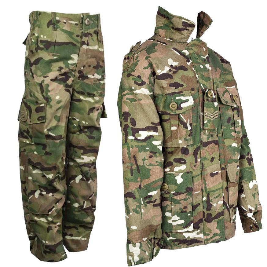 KIDS PADDED CAMO DPM JACKET is water repellent childs army