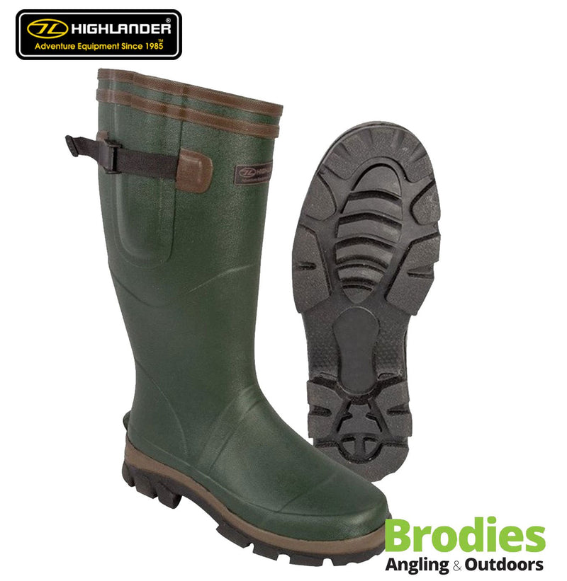 Highlander 'Moorland' Olive Hunter Style Wellington Boots-Highlander-Brodies Angling & Outdoors