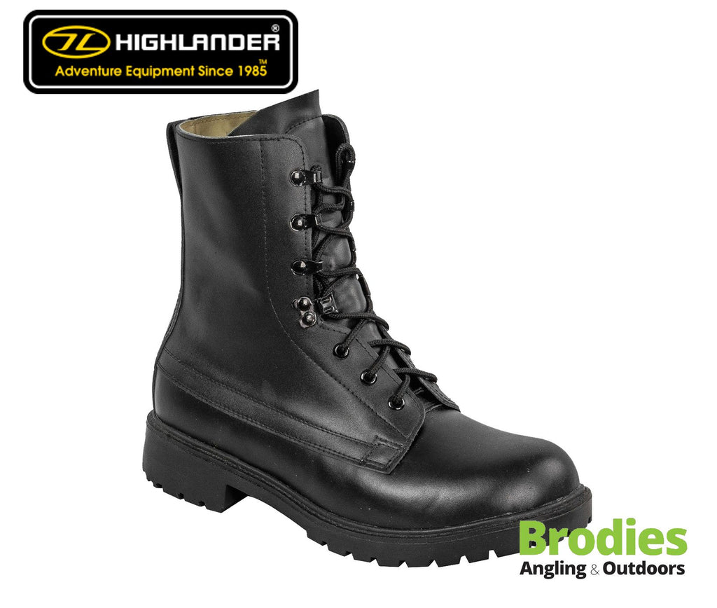 Highlander 'Ranger' Leather Military Boots-Highlander-Brodies Angling & Outdoors