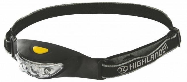 Highlander 'Ray' 3 LED Headtorch-Highlander-Brodies Angling & Outdoors