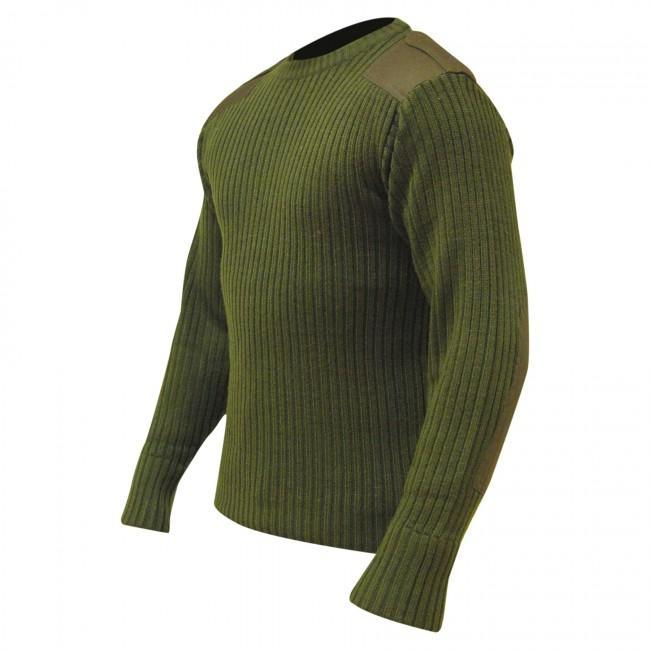 Highlander Ribbed Crew Neck Military Pullover-Highlander-Brodies Angling & Outdoors