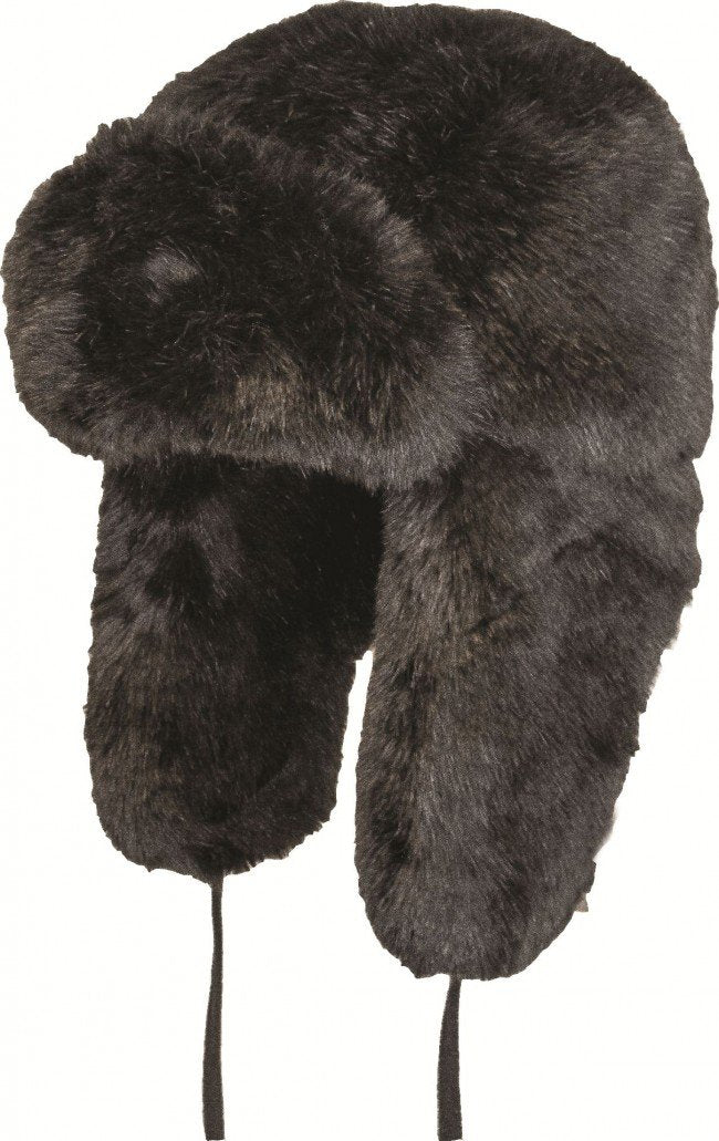 Highlander Russian Faux Fur Hat (Black)-Highlander-Brodies Angling & Outdoors