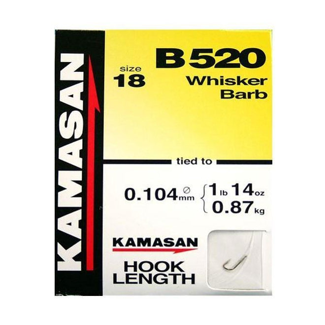 Kamasan B520 Hook To Nylon-Kamasan-Brodies Angling & Outdoors