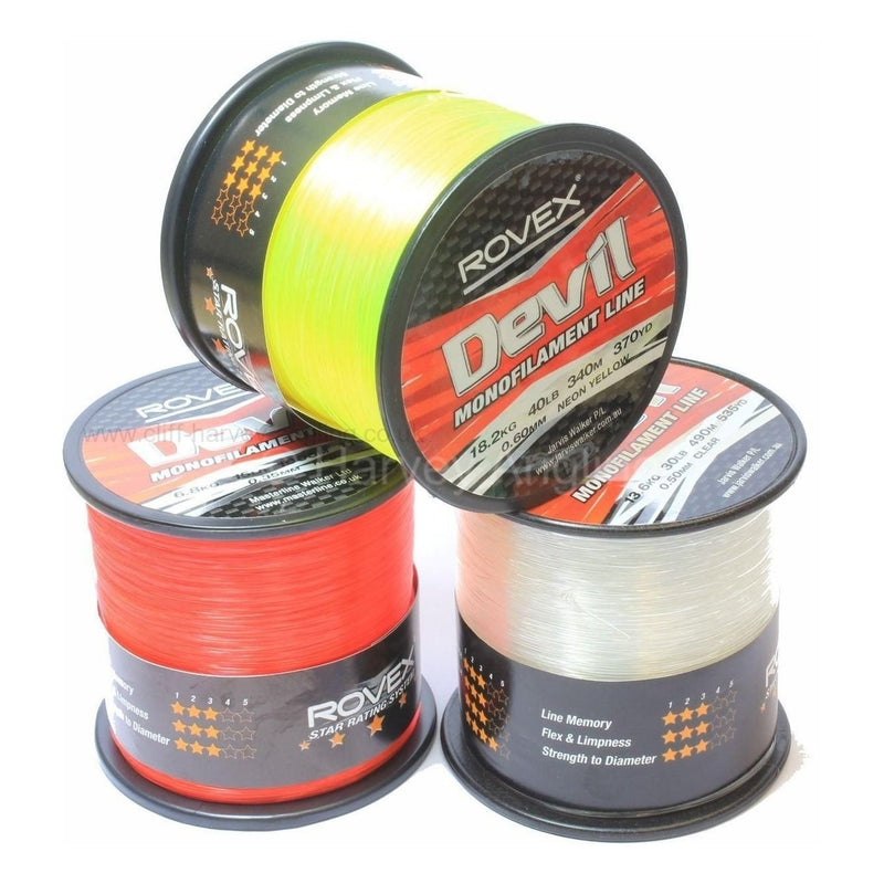 Rovex Devil Fibre Monofilament Line-Rovex-Brodies Angling & Outdoors