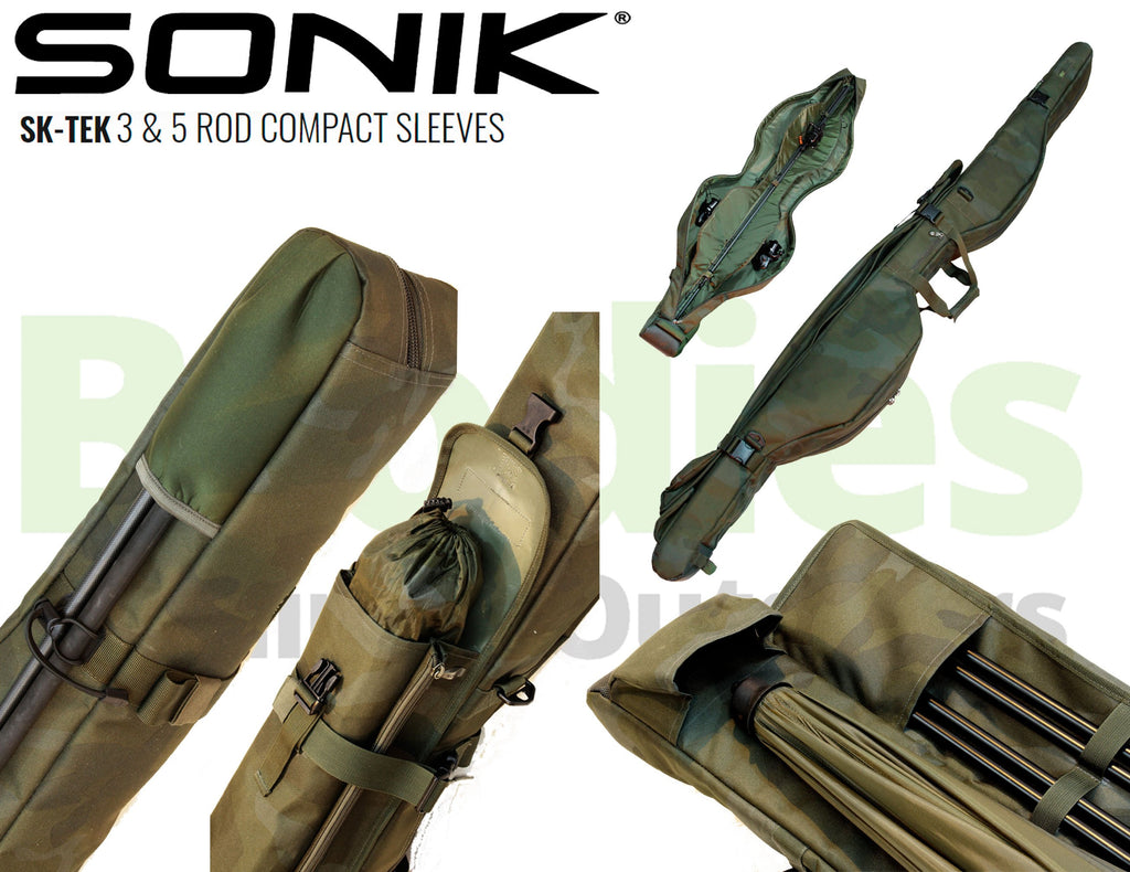 Sonik SK-TEK 3 & 5 Rod Compact Sleeves-Sonik-Brodies Angling & Outdoors