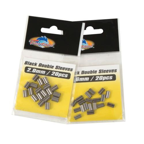 Tsunami Black Single Sleeves/Crimps 2mm 50pk-Tsunami-Brodies Angling & Outdoors