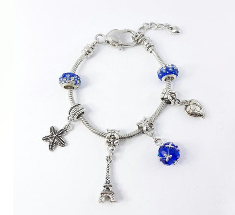 Glass Ball Bracelet - Royal Blue