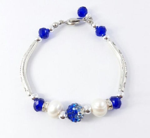 Silver Bracelet - Royal Blue