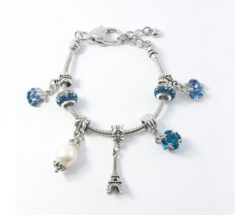 Glass Ball Bracelet - Turquoise