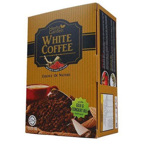 Herbs Garden Instant White Coffee with Tongkat Ali, Goji Berry Wolfberry