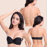 Clear Strap Angel Wing Push Up Strapless Invisible Convertible Bra