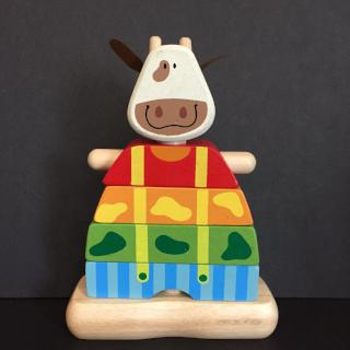 I'm Toy Wooden Stacking Cow - Bocky & Moo