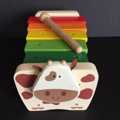 I'm Toy Cow Xylophone Bench - Bocky & Moo