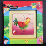 Chelona Mini Discovery Puzzle - Rooster - Bocky & Moo