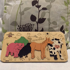 andZee Naturals Farm Animals Raised Puzzle - Bocky & Moo