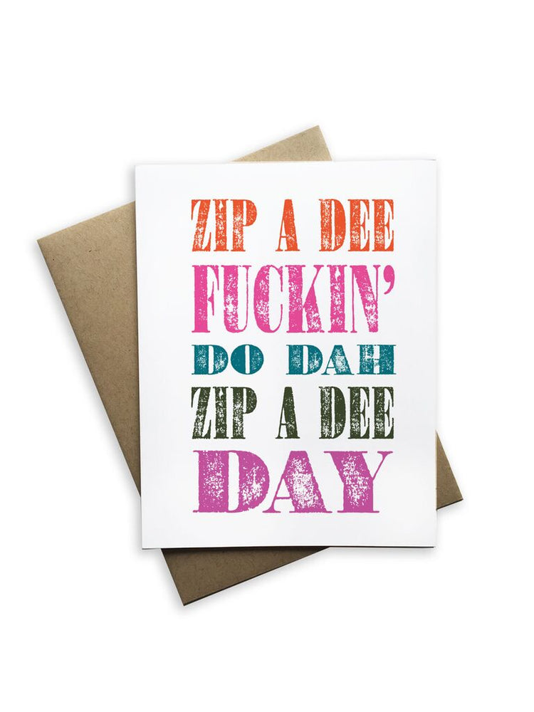 Zip a Dee Notecard