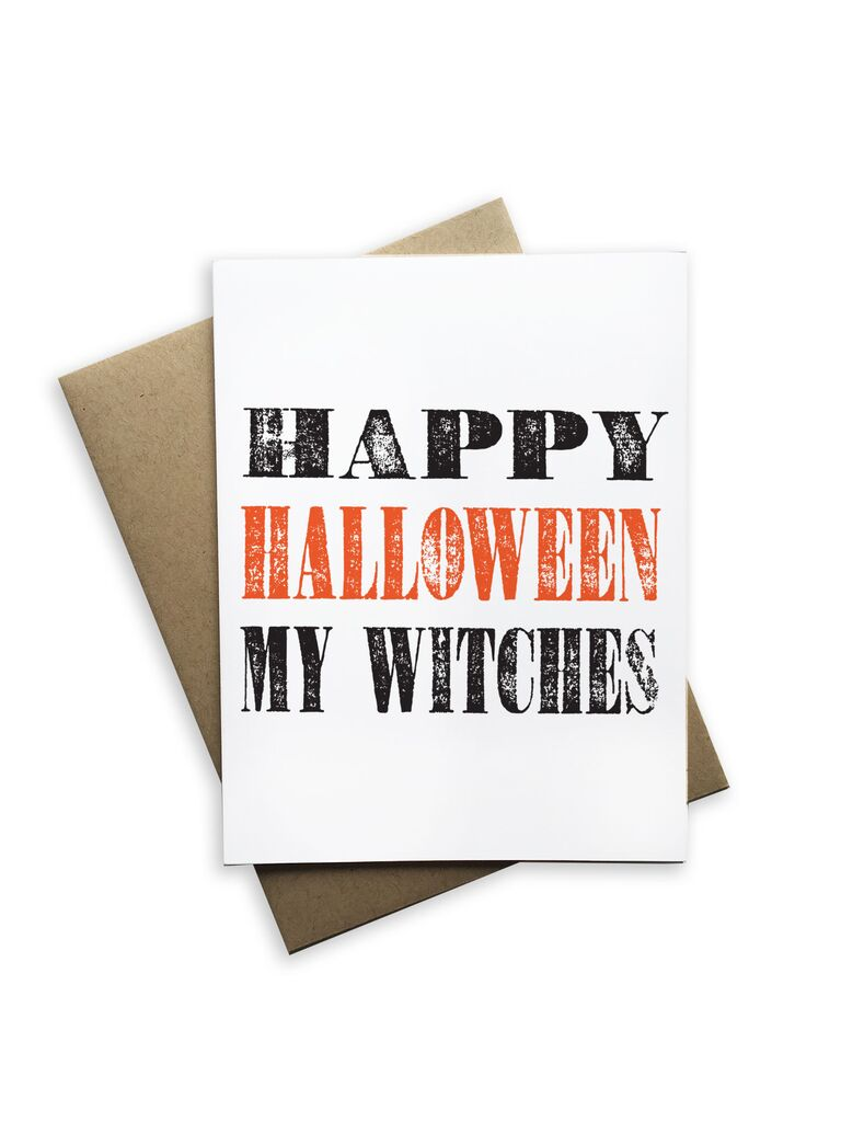 Happy Halloween My Witches Notecard