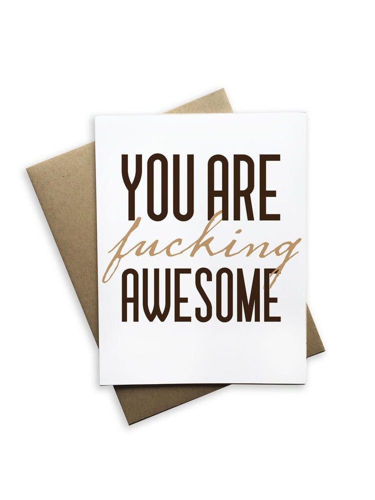 You Are F'ing Awesome Notecard