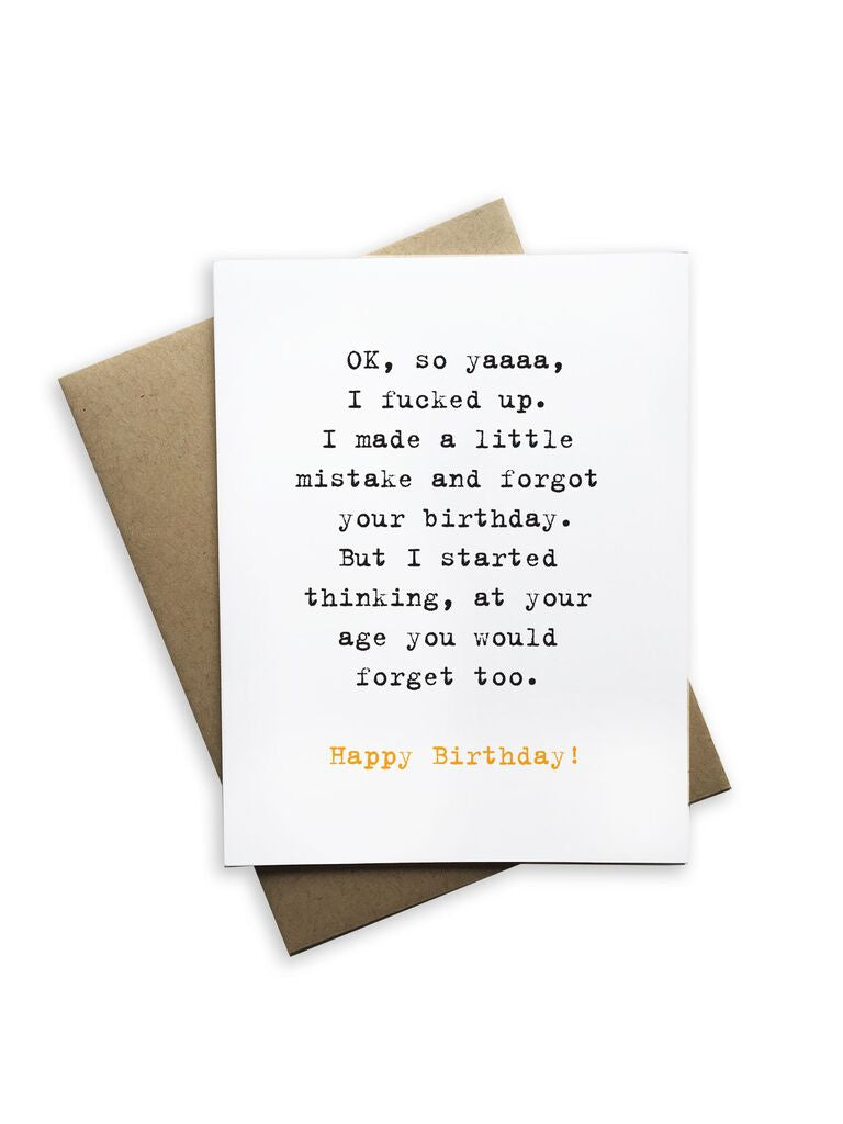 Ok, So Happy Birthday Notecard