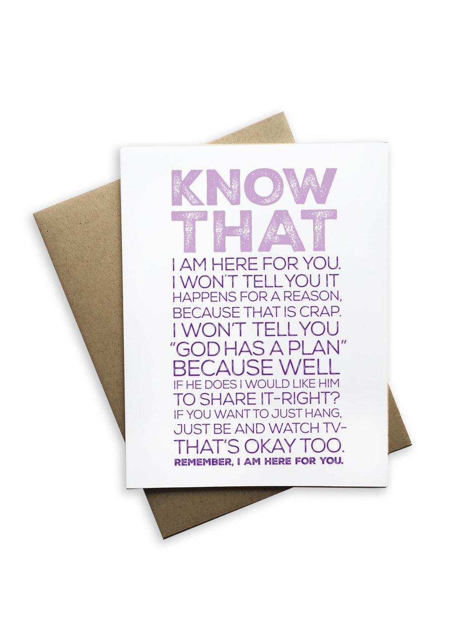 Know That... Notecard