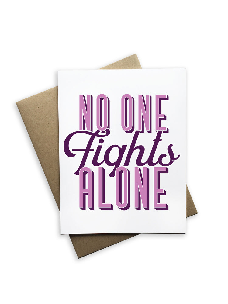 No One Fights Alone Notecard