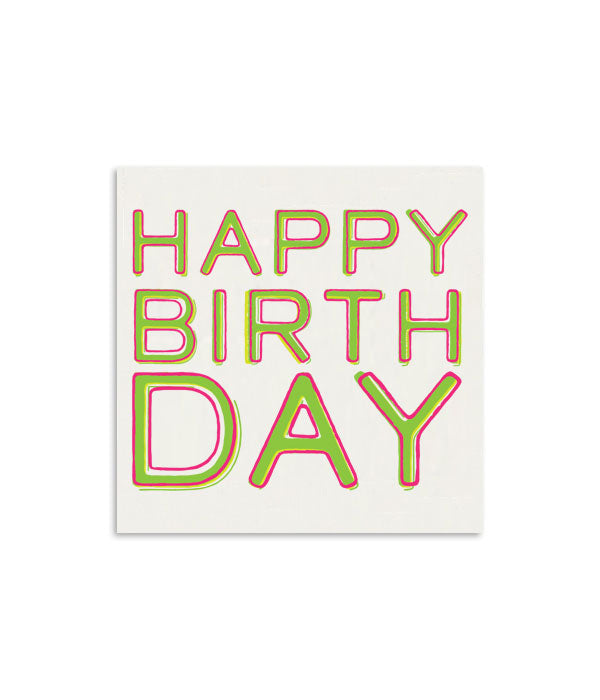 Happy Birthday Color Mini Notecard