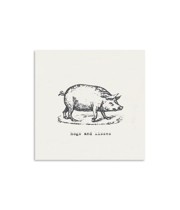 Hogs & Kisses Mini Notecard