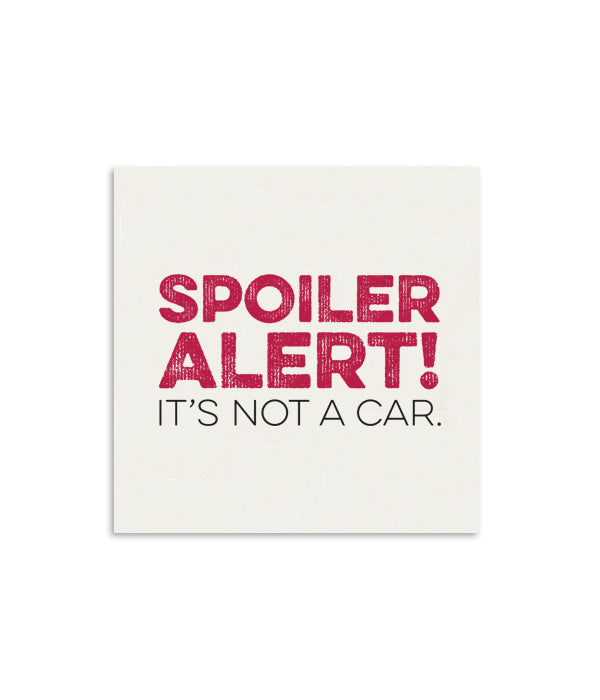 Spolier Alert Mini Notecard