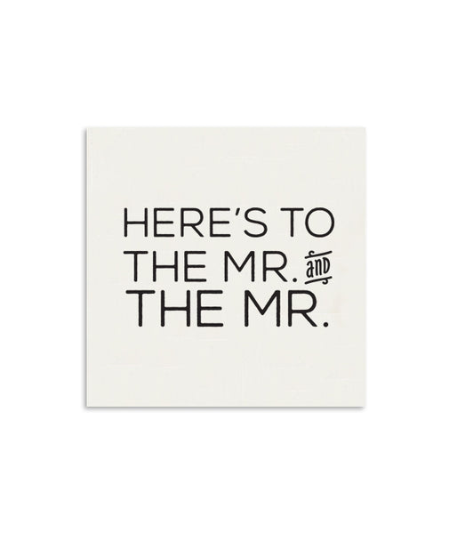Here's To The Mr. and The Mr. Mini Notecard