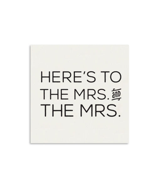 Here's To The Mrs. and The Mrs. Mini Notecard