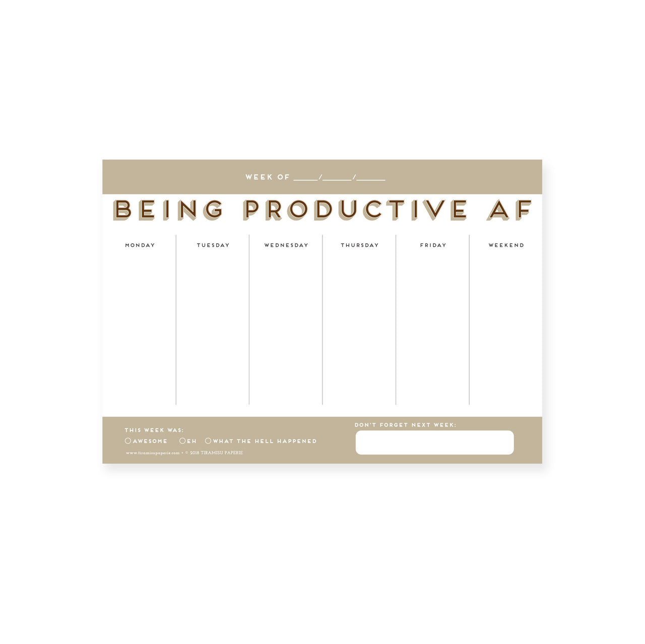Being Productive AF Mousepad Notepad