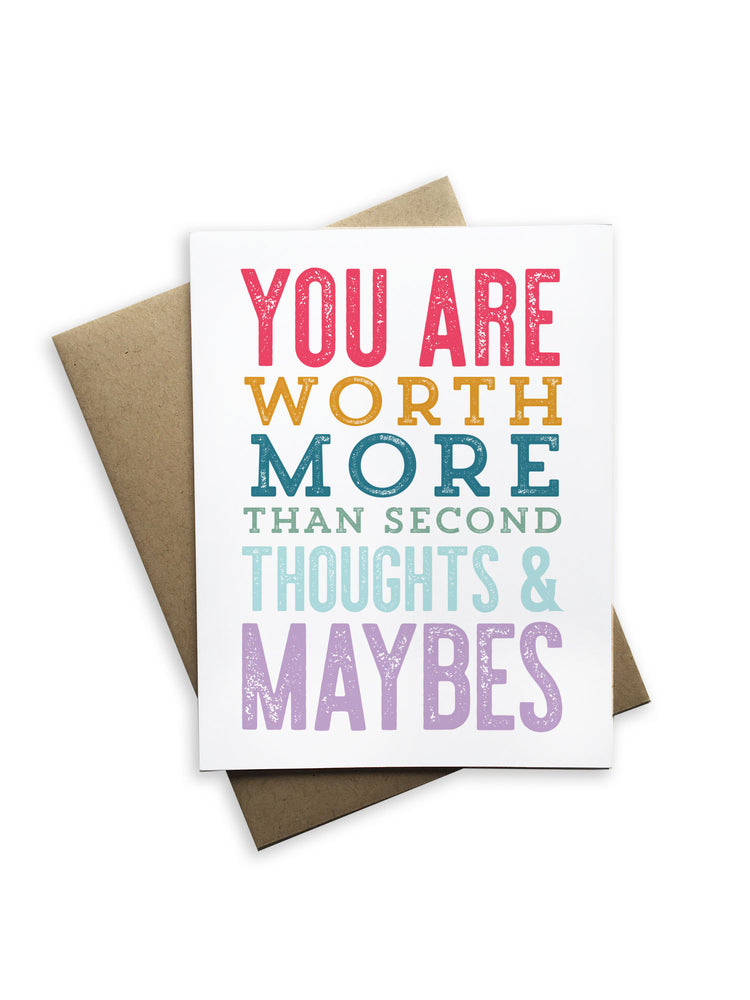 You are Worth More Notecard
