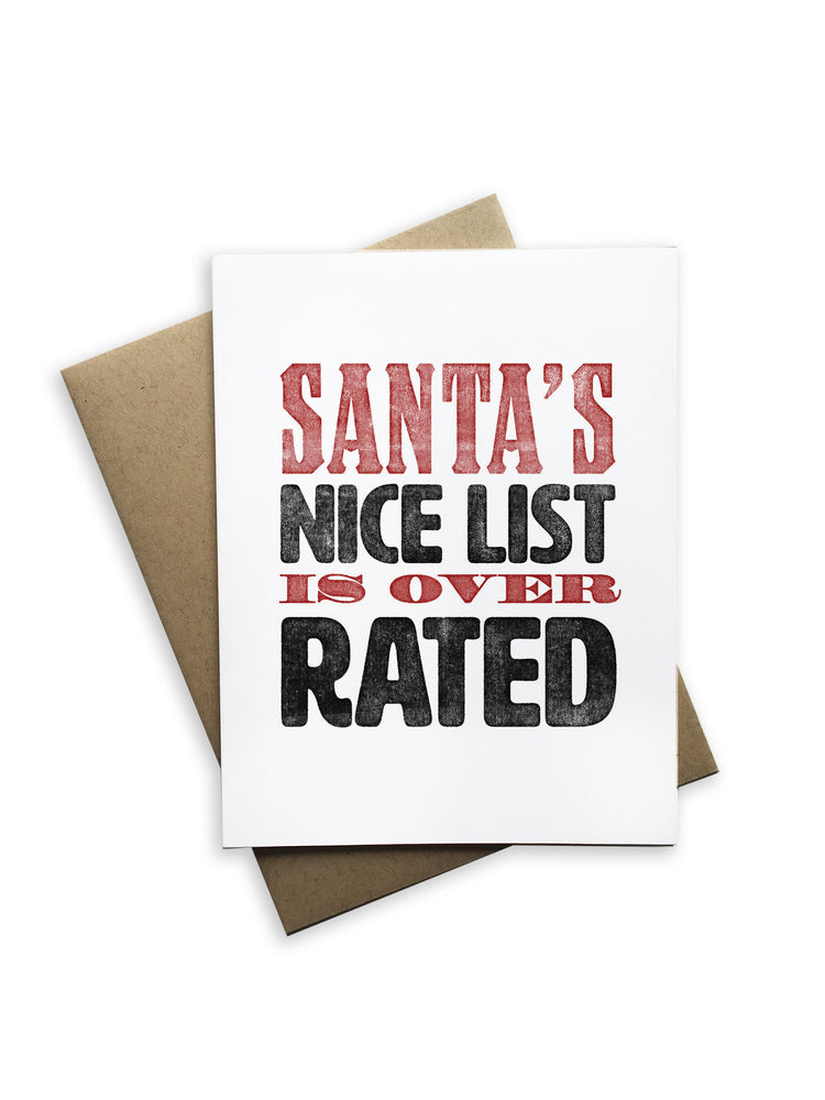 Santa's Nice List is Overrated