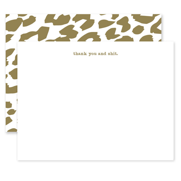 Thank You and Shit Notecard Set
