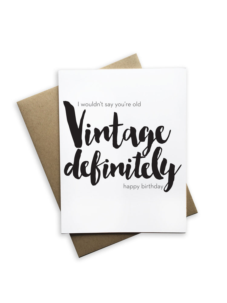 Vintage Definitely Notecard