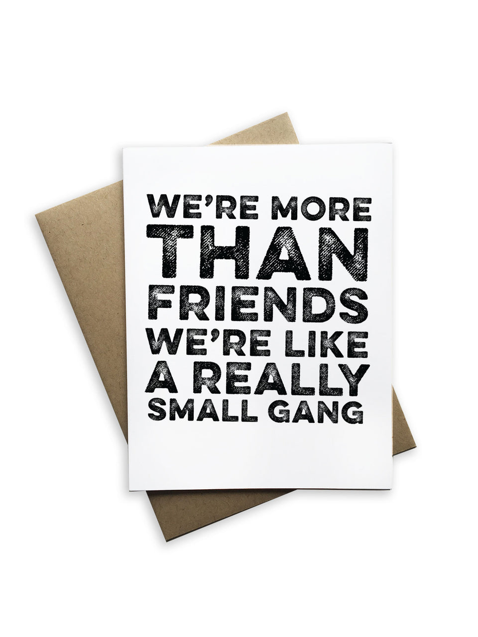 We're More Than Friends Notecard
