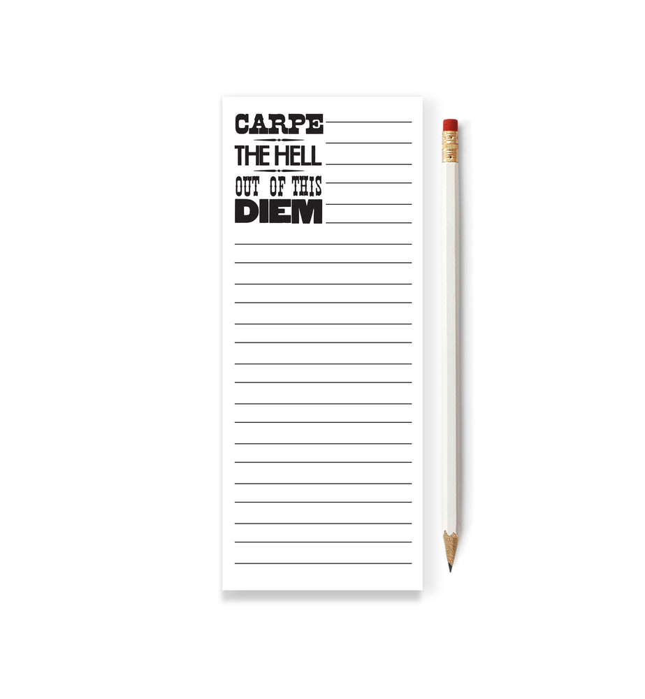 Carpe The Hell Out of This Diem Skinny Notepad