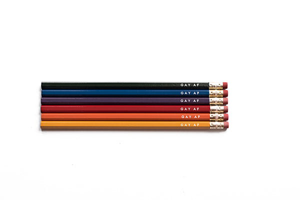 Gay AF Pencils