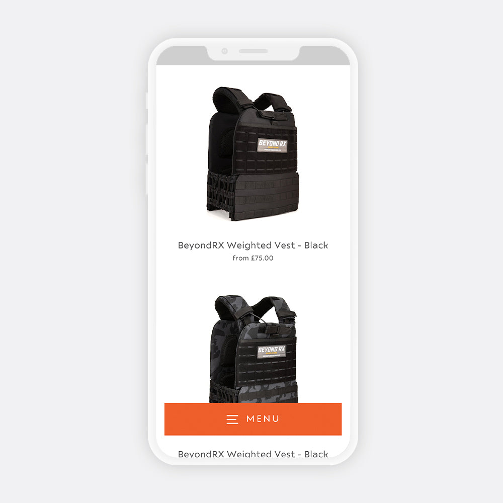 Beyond rx mobile website view weight vest gym  | 1HUTCH