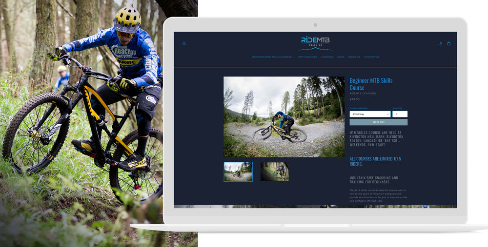 Ride MTB mobile website image mountain bikes bike coaching mtb skills course | 1HUTCH