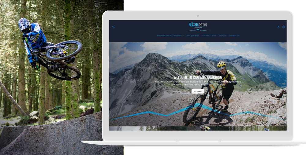 Ride MTB mobile website image mountain bikes bike coaching  | 1HUTCH