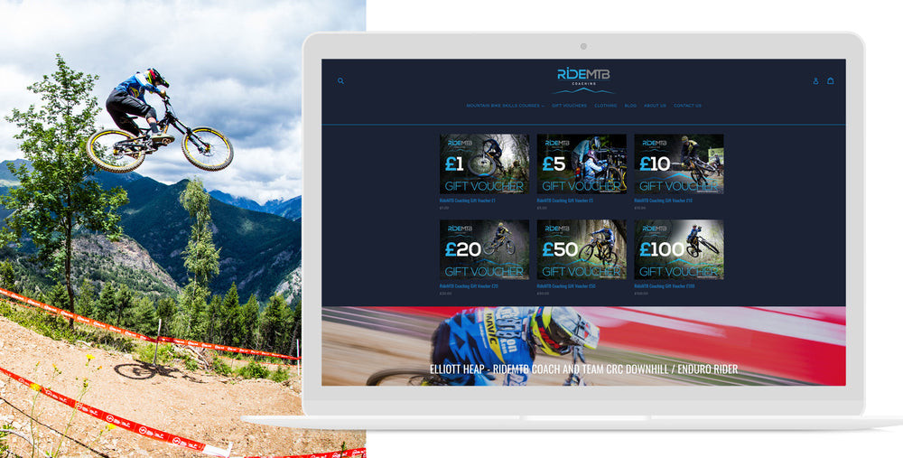 Ride MTB mobile website image mountain bikes bike coaching gift voucher | 1HUTCH
