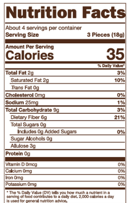 Sugar Free Caramels Nutrition Facts