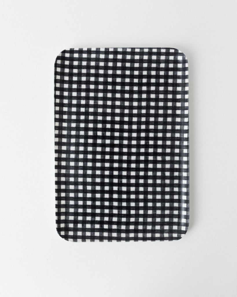 Fog Linen Work - Large Linen Coating Tray - Navy White Check